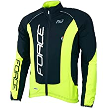 Force Hombre Bicicleta Chaqueta X68Pro, chaqueta de invierno, varios colores, color negro/amarillo neón, tamaño L