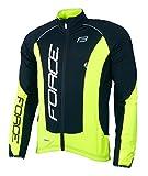 Force Herren Fahrradjacke X68 PRO, Winterjacke, verschiedene Farben (schwarz/neongelb, L)