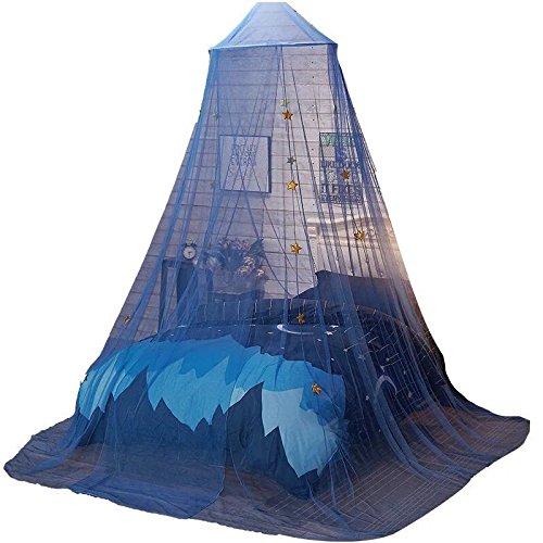 Grazechoice zanzariera letto a baldacchino tenda cupola princess stars letto tenda per ragazze ragazzi bambini casa blu