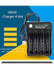Faironly 3.7V 18650 Charger Li-ion Battery USB Independent Charging Portable 18350 16340 14500 Battery Charger Four Slots
