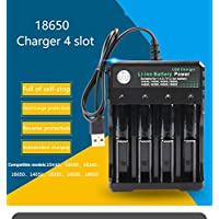 AKDSteel 3.7V 18650 Charger Li-ion Battery USB Independent Charging Portable 18350 16340 14500 Battery Charger Four Slots