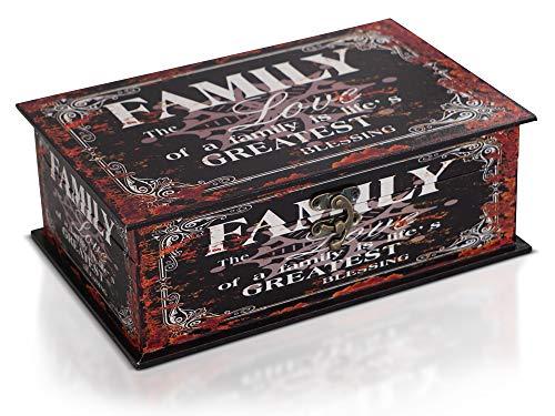 Brynnberg Caja de Madera 30x20x11cm - Cofre del Tesoro Pirata de Estilo Vintage - Hecha a Mano - Diseño Retro - joyero