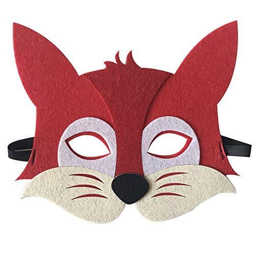 Starall Kinder Halloween Masken Niedlichen Tier Lion Tiger Fox Maskerade Party Kostüm Cosplay Prop (Fuchs) (Niedlichen Für Tier-kostüm Frauen)