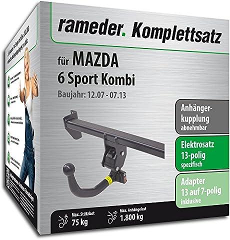 RAMEDER Komplettsatz, Anhängerkupplung abnehmbar + 13pol Elektrik für MAZDA 6