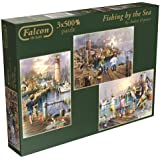 Falcon de Luxe - Fishing by the Sea Jigsaw Puzzles in a Box by Jumbo