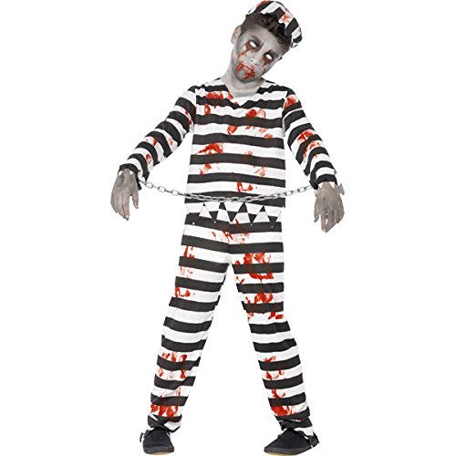 New Kids Halloween Zombie Sträfling Jungen Fancy Dress Party Kostüm