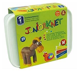Feuchtmann Juguetes 6280318 - Juniorknet plastilina Maxi Box, 14 Varillas en Caja de Almacenamiento