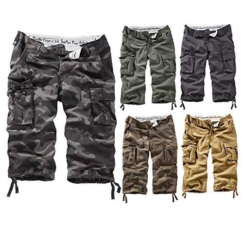 Surplus Trooper Legend 3/4 Shorts, Grün (Oliv Gewaschen), Gr. L 5-pocket Cord-jeans