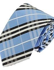 WZW Cravate Vintage / Soirée / Travail / Décontracté Polyester.Homme Rayé.Blanc Toutes les Saisons