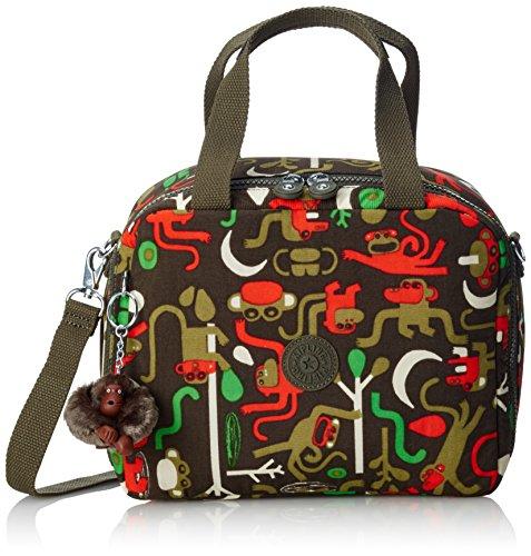 Kipling - MIYO - Borsa per il pranzo con fascia per trolley - Mojito Green C - (Verde) Multicolore (Monkey Frnds Kh)