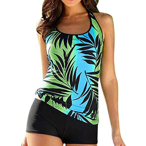 Pingtr Women Bikini Set, Women Tankini Sets with Shorts Ladies Swimming Costumes 2 Piece Tops Bottoms Swimsuits Swimwear Dresses