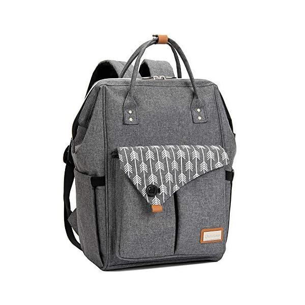 Lekebaby Baby Nappy Changing Bag Backpack Rucksack, Arrow Print