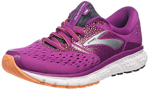 Brooks Glycerin 16, Zapatillas de Running para Mujer, Morado (Wild Aster/Fig/Orange 586), 44.5 EU
