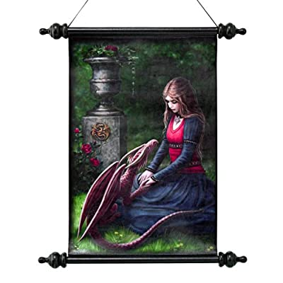 Design Toscano CL751318 Secret Garden Canvas Wall Scroll Tapestry by Artist Anne Stokes