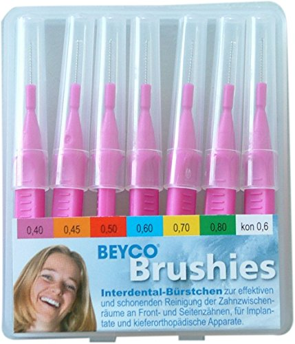Interdentalbürsten Beycodent Brushies 0,40 pink, 7 Stück in Taschenbox