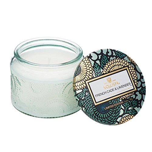Voluspa Petite Glass jar Candle in French cade & Lavender -