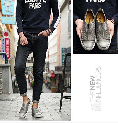 Pumpe Schlüpfen Loafer Hohl Rutschfest Sandalen Beiläufig Schuhe Männer Retro Leder Atmungsaktiv Britischen Stil Pedal Schuhe Schmutzige Schuhe Fahrschuhe Lazy Schuhe Eu Größe 38-44 Grey