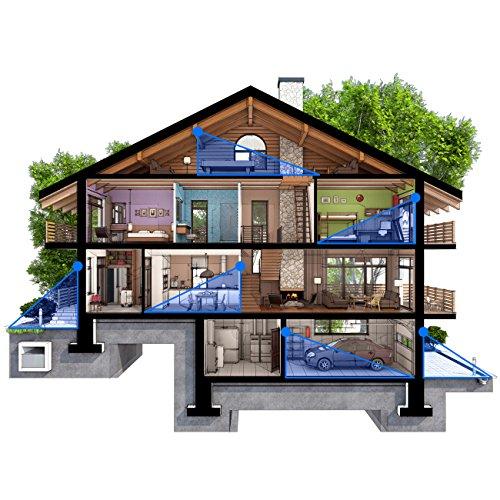 deleyCON PREMIUM Infrarot Bewegungsmelder – für Innen- und Außenbereich – 180° Arbeitsfeld – Reichweite bis 12m – einstellbarer Erfassungsbereich – IP44 Schutzklasse – Spritzwasser geschützt – Weiß - 6