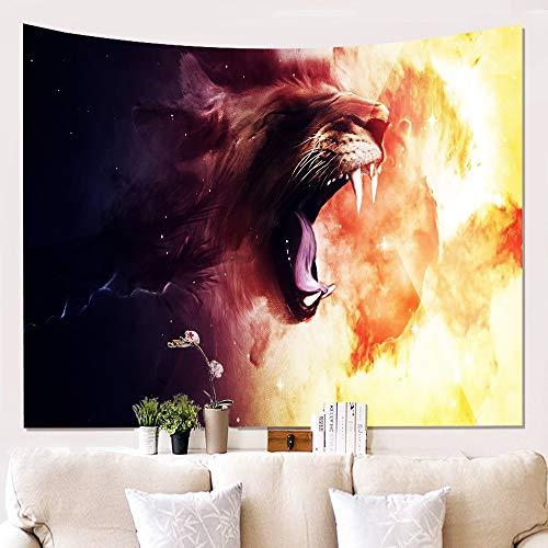 XIAOBAOZIGT Tapestry Wall Hanging,Heftige Cheetah Böhmische Indischen Hippie Psychedelischen Moderne Große Kunst Wandschmuck Hd-Bild 3D-Bedruckte Gewebe Für Wohnzimmer 150 × 100 cm