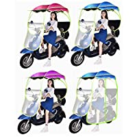 ewby Electric Motorcycle Canopy Awning Electric Battery Car Canopy Electric Car Canopy Umbrellas Battery Car Canopy with lace rose-Rear view mirror