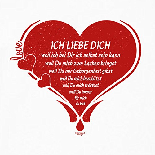 Soreso Design Fimo Armband & Kissen: Ich Liebe Dich Schmuck Geschenk Weihnachten Frauen Freundin romantisch Farbe: Weiss
