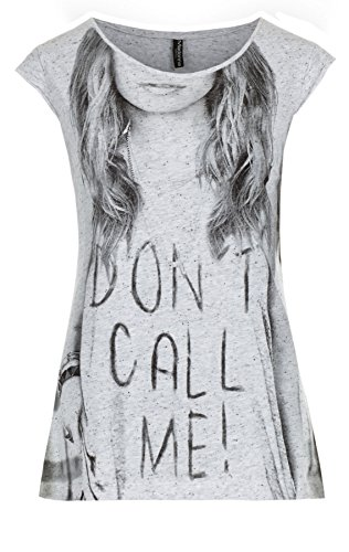 Madonna Damen Damen T-Shirt weiss/schwarz