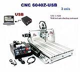 CNC 3020T/3040T/6040z Router Maschine Holz Gravur Maschine CNC 3D GRAVUR Fräsmaschine Bohren Desktop USB Router Graviergerät - 6040z 3 Axis