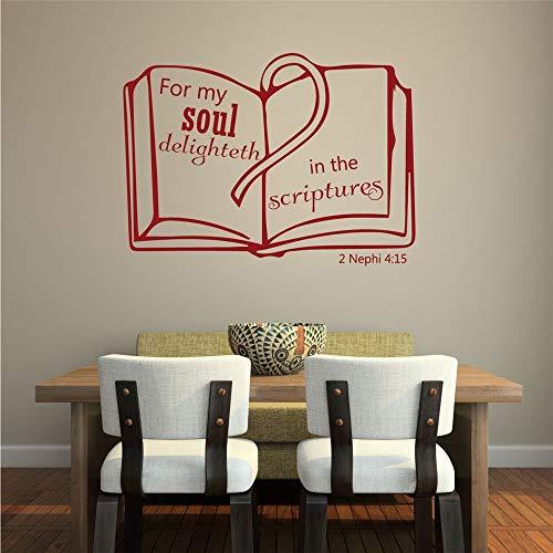adesivo murale adesivo da parete Scritture Sul Muro Delle Scritture 2 Nefi 4:15 Per La Mia Anima Delizia Nelle Scritture Per La Camera Da Letto Del Soggiorno