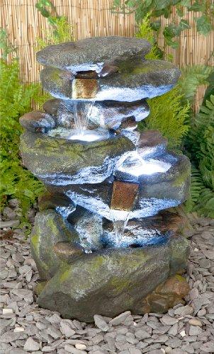 Bekko Wasserfall Beleuchteter Kaskadenbrunnen 55cm