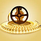 LEDMO Striscia LED, SMD5630-300led 5 metri strisce led bianco caldo 2700K DC12V IP20 non impermeabile 25LM/LED, 2 volte la luminosità di SMD5050 led strip (alimentatore non incluso)