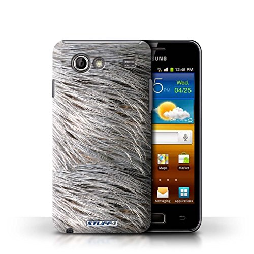 Coque en plastique pour Samsung Galaxy Advance Collection Motif Fourrure Animale - Léopard Plumes
