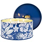 La Jolíe Muse Christmas Candle Large, 3 Wick Big Scented Candle, Sandalwood Winter Cotton, 400g