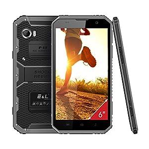 E&L W9 Rugged Phones 6.0 Inch Android 6.0 Octa-Core Dual SIM Standby Mobile Phone Dustproof Waterproof Shockproof Smartphone Camera 8MP SIM-Free 4000mAh IP68