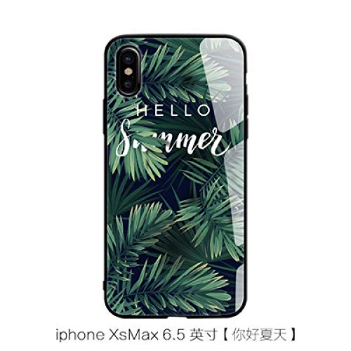 MYing iphone6   / 7plus Handy Shell literarische X iphone8 / 6splus gehärtetem Glas Handy Shell xr/XS max-XS MAX (Glas)