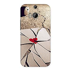 Stylish Broken Heart Ace Print Back Case Cover for HTC One M8