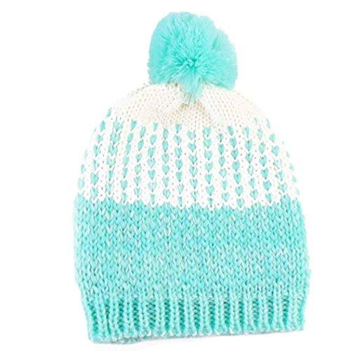 Sunnywill Baby Nette Winter Kinder Baby Mützen Gestrickte Wolle Netter Hut (Sky Blue) (Blue-baby-häubchen)