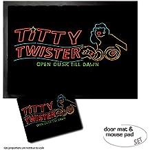 Set : 1 Paillasson Essuie-Pieds (70x50 cm) + 1 Tapis De Souris (23x19 cm) - Une Nuit En Enfer, Titty Twister Open Dusk Till Dawn