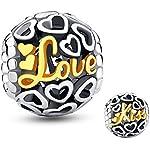 Plata de Ley 925Glamulet Love Me y Kiss Me encanto Pandora pulsera...