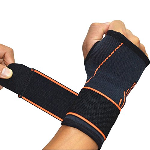 Handgelenkbandage, verstellbare, mittelgroße Druck-Bandage zum Umwickeln, Handinnenflächen, 2 pcs
