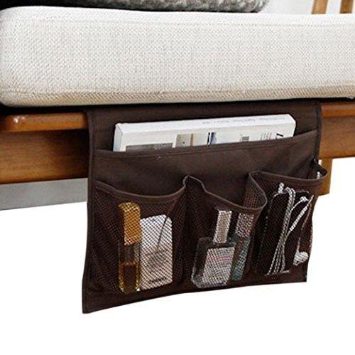 Wady bedside storage organizer bag, tavolo cabinet storage organizer portaoggetti, comodino, nero