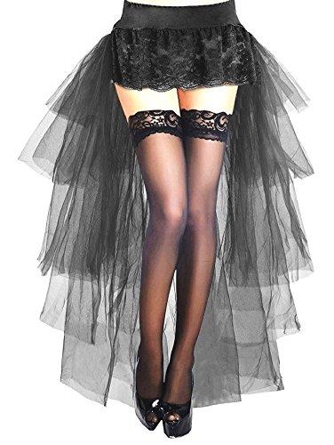 Bustle Skirt Kostüm Prom Organza Burlesque Bustle Party Ballett Lange Schwanz Tutu Prom Spitze Bustle Prom Hochzeit Rock Kleid Durchschnittliche Größe