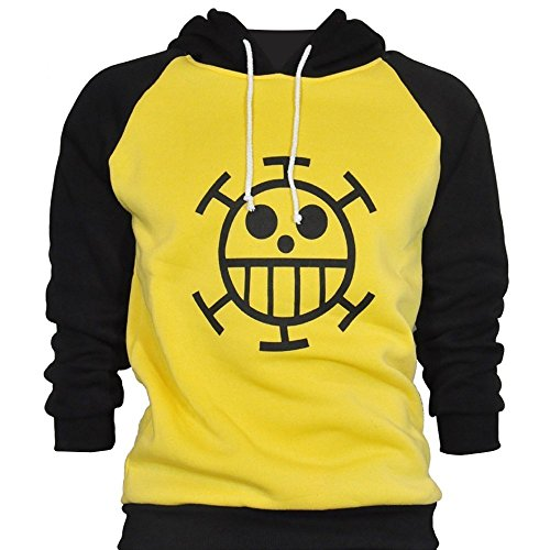 CoolChange Chandail One Piece de Trafalgar Law avec le dessin du Jolly Roger de l'équipage des Heart pirates. Taille: L