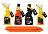 #6: DR3M Automative Car Combos Microfiber Cleaning Cloth + AUTOMATIVE CAR WASH SHAMPOO + AUTOMATIVE DASHBOARD DRESSER + AUTOMATIVE LEATHER DRESSER SPRAY + AUTOMATIVE CAR WAX POLISH for - Honda CITY Zx