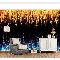 Meaosy Fuego Agua Textura Fondo Negro Llama Papel Tapiz Sala De Estar Tv Sofá Pared Dormitorio