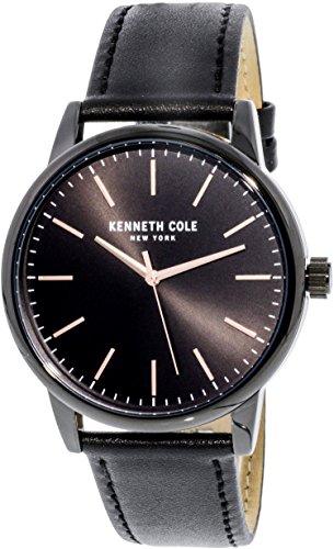 Kenneth Cole KC50241001 Black Leather Japanese Quartz Fashion Watch