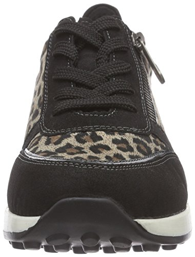 Remonte D1800 60, Baskets Basses Femme Multicolore - Mehrfarbig (schwarz/schwarz/beige / 60)