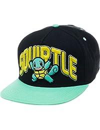 Pokemon Character Squirtle Bboy Hat Snapback Baseball Cap Os Black turquoise 61c8ef0ea252