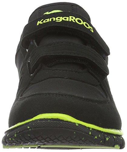 KangaROOS Unisex-Kinder Nara S Low-Top Schwarz (black/lime 580)