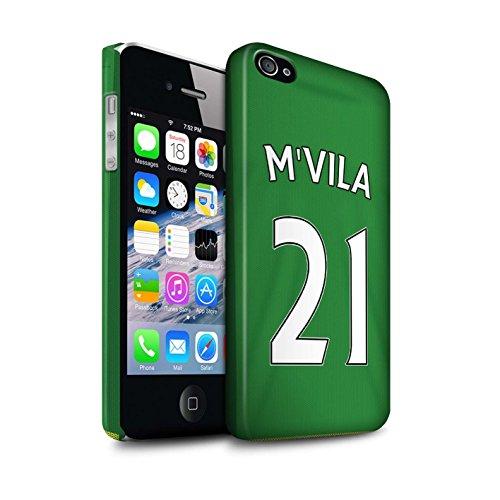 Offiziell Sunderland AFC Hülle / Matte Snap-On Case für Apple iPhone 4/4S / Pack 24pcs Muster / SAFC Trikot Away 15/16 Kollektion M'Vila