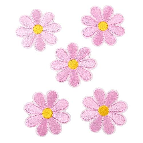 CanVivi Aufbügelbilder Blumen Set Patches Aufnäher Applikationen,Rosa